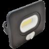 Kép 1/3 - LED Fényvető mozgásérzékelővel, 750lm, 10W, fekete