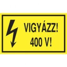 Matrica: Vigyázz 400V! 16x10 cm