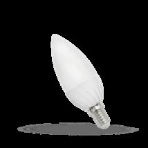 Led gyertya, E14, 6W, hideg fehér