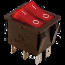 dupla I/O Kapcsoló, 1 pólusú, lámpával