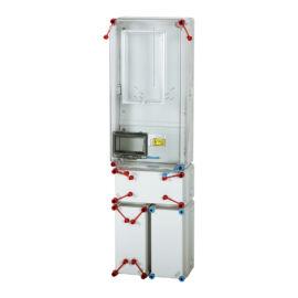 Fogyasztásmérő szekrény,  felületre szerelhető, földkábeles csatlakozással