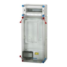 Fogyasztásmérő szekrény, elosztóval, felületre szerelhető kivitel