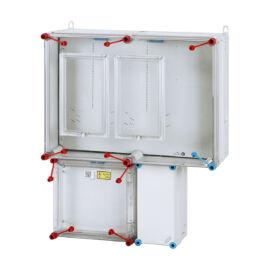Fogyasztásmérő szekrény,  2 mérőhelyes felületre szerelhető kivitel