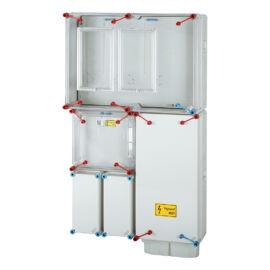 Fogyasztásmérő szekrény,  2 mérőhelyes, földkábeles csatlakozásra