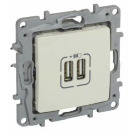 Niloé Dupla USB töltő aljzat, bézs