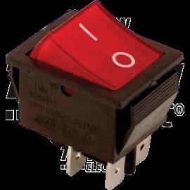 I/O Kapcsoló, 2 pólusú, lámpával