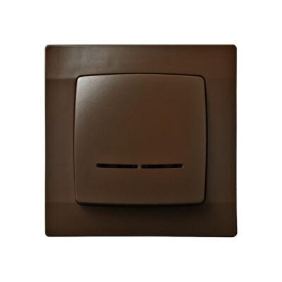 Káró barna jelzőfényes kapcsolócsalád
