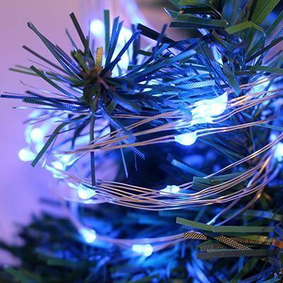 Fényfüzér 50Led-es kék