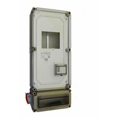 PVT fogy.mérő szekrény 3F, elosztó+ duga