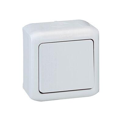 Keresztváltó (107) kapcsoló, fehér IP44