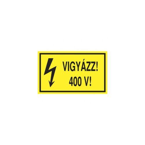 Matrica: Vigyázz 400V! 10x6cm