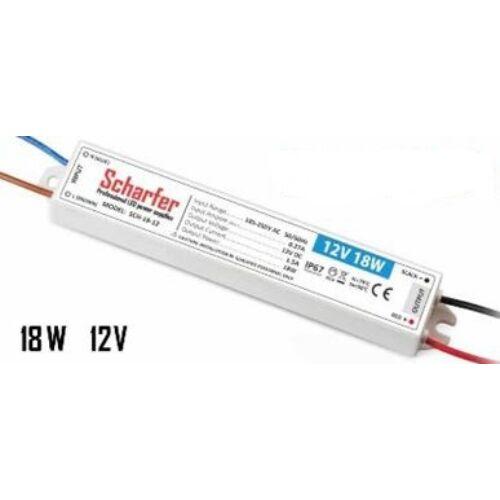 Led tápegység 230/12V,  18W, IP67