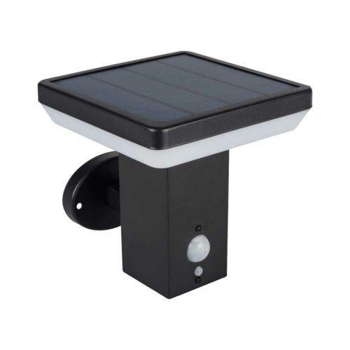 Solca napelemes lámpa, oldalfali