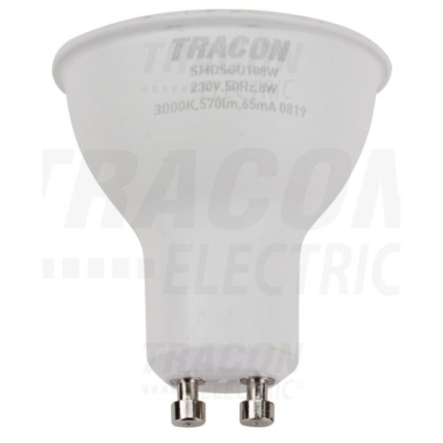 LED GU10 8W meleg fehér