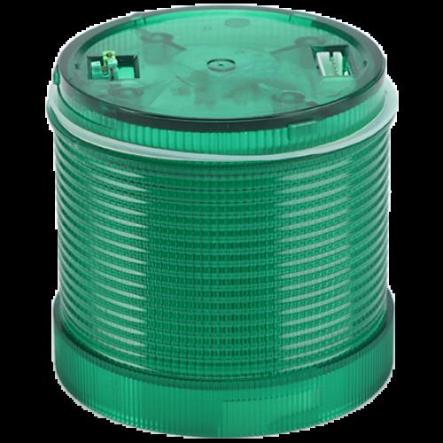Fényjelző oszlopelem, zöld 230V
