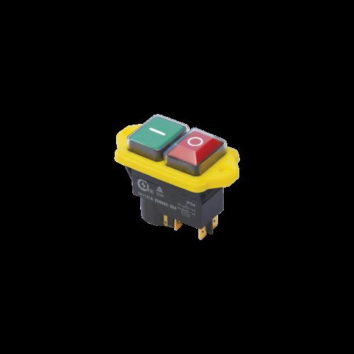 Biztonsági kapcsoló sárga peremmel 12A
